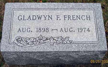 FRENCH, GLADWYN F. - Meigs County, Ohio | GLADWYN F. FRENCH - Ohio Gravestone Photos