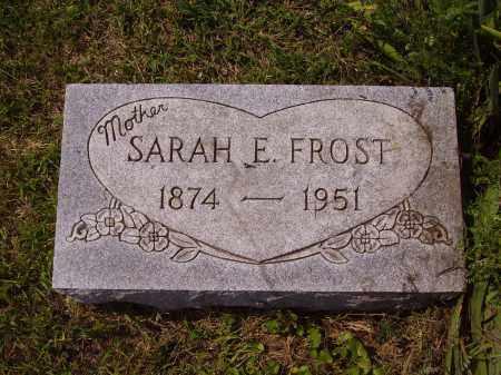 FROST, SARAH E. - Meigs County, Ohio | SARAH E. FROST - Ohio Gravestone Photos