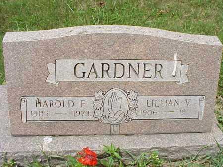 GARDNER, HAROLD F. - Meigs County, Ohio | HAROLD F. GARDNER - Ohio Gravestone Photos
