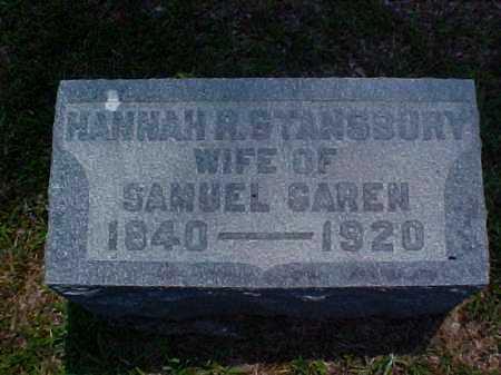 GAREN, HANNAH R. - Meigs County, Ohio | HANNAH R. GAREN - Ohio Gravestone Photos
