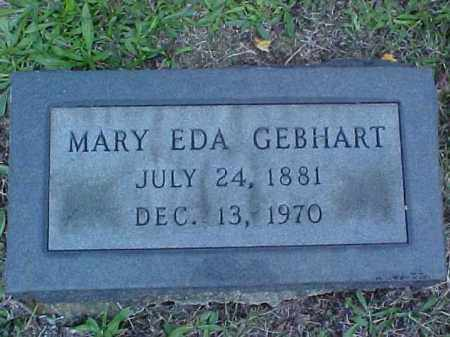 GEBHART, MARY EDA - Meigs County, Ohio | MARY EDA GEBHART - Ohio Gravestone Photos