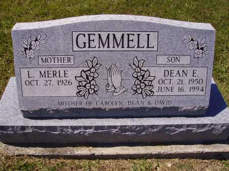 GEMMELL, DEAN E. - Meigs County, Ohio | DEAN E. GEMMELL - Ohio Gravestone Photos