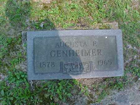GENHEIMER, AUGUSTA E. - Meigs County, Ohio   AUGUSTA E. GENHEIMER - Ohio Gravestone Photos