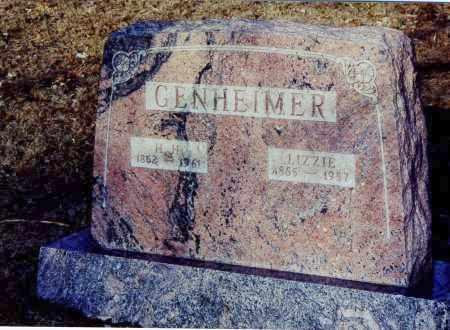 GENHEIMER, ELIZABETH SYBIL - Meigs County, Ohio | ELIZABETH SYBIL GENHEIMER - Ohio Gravestone Photos