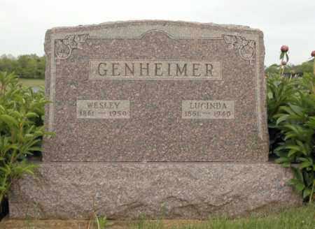 GENHEIMER, MARGARET LUCINDA - Meigs County, Ohio | MARGARET LUCINDA GENHEIMER - Ohio Gravestone Photos