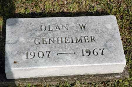 GENHEIMER, OLAN WAYNE - Meigs County, Ohio | OLAN WAYNE GENHEIMER - Ohio Gravestone Photos