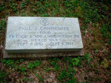 GENHEIMER, PAUL S. - Meigs County, Ohio | PAUL S. GENHEIMER - Ohio Gravestone Photos