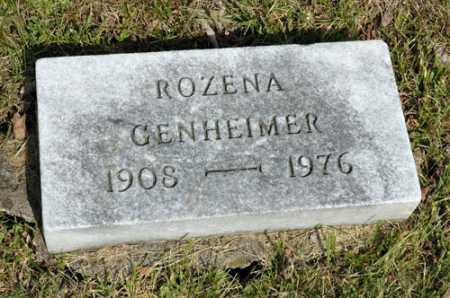 GENHEIMER, ROZENA - Meigs County, Ohio | ROZENA GENHEIMER - Ohio Gravestone Photos