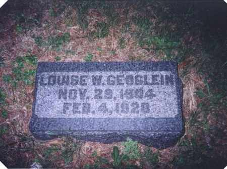 GEOGLEIN, LOUISE W. - Meigs County, Ohio | LOUISE W. GEOGLEIN - Ohio Gravestone Photos