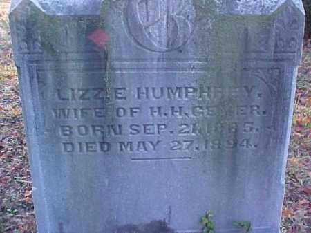 HUMPHREY GEYER, LIZZIE - Meigs County, Ohio | LIZZIE HUMPHREY GEYER - Ohio Gravestone Photos
