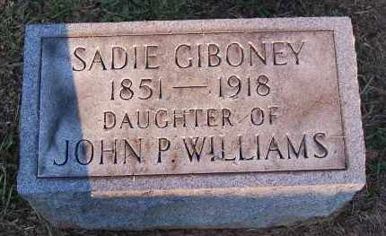 WILLIAMS GIBONEY, SADIE - Meigs County, Ohio | SADIE WILLIAMS GIBONEY - Ohio Gravestone Photos