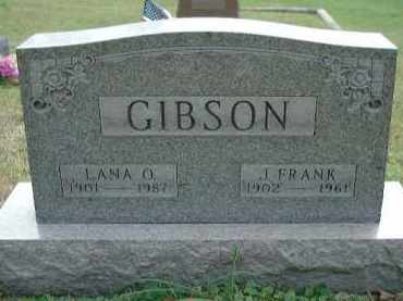 ASH GIBSON, LANA OLIVE - Meigs County, Ohio | LANA OLIVE ASH GIBSON - Ohio Gravestone Photos