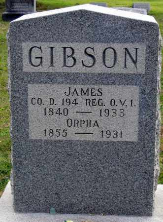 GIBSON, JAMES ARTHUR - Meigs County, Ohio | JAMES ARTHUR GIBSON - Ohio Gravestone Photos
