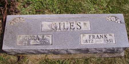 GILES, CORA L. - Meigs County, Ohio | CORA L. GILES - Ohio Gravestone Photos