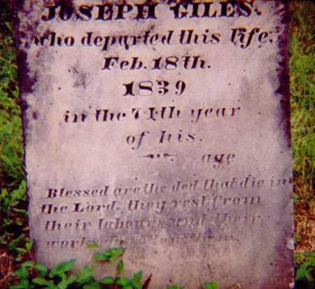 GILES, JOSEPH - Meigs County, Ohio | JOSEPH GILES - Ohio Gravestone Photos