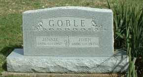 GOBLE, JENNIE - Meigs County, Ohio | JENNIE GOBLE - Ohio Gravestone Photos