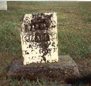 GOFF, ELIZABETH - Meigs County, Ohio | ELIZABETH GOFF - Ohio Gravestone Photos