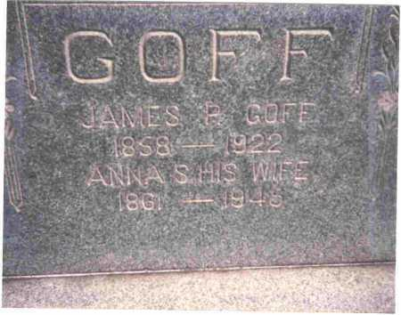 GOFF, JAMES P. - Meigs County, Ohio | JAMES P. GOFF - Ohio Gravestone Photos