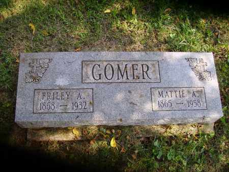 GOMER, FRILEY A. - Meigs County, Ohio | FRILEY A. GOMER - Ohio Gravestone Photos