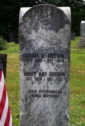 GOODIN, MARY HAY (SIC) - Meigs County, Ohio | MARY HAY (SIC) GOODIN - Ohio Gravestone Photos