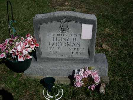 GOODMAN, BENNY H. - Meigs County, Ohio | BENNY H. GOODMAN - Ohio Gravestone Photos