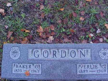 GORDON, BAKER O. - Meigs County, Ohio | BAKER O. GORDON - Ohio Gravestone Photos