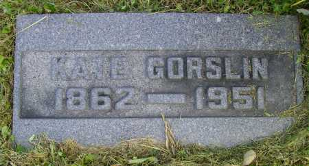 GORSLIN, KATE - Meigs County, Ohio | KATE GORSLIN - Ohio Gravestone Photos