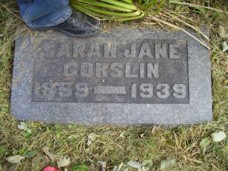 BURT GORSLIN, SARAH JANE - Meigs County, Ohio | SARAH JANE BURT GORSLIN - Ohio Gravestone Photos