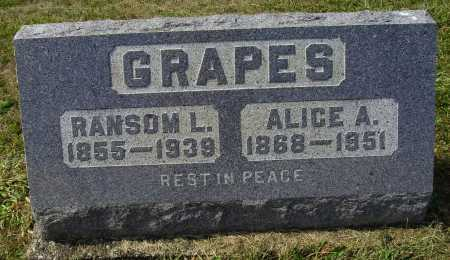 GRAPES, RANSOM L. - Meigs County, Ohio | RANSOM L. GRAPES - Ohio Gravestone Photos