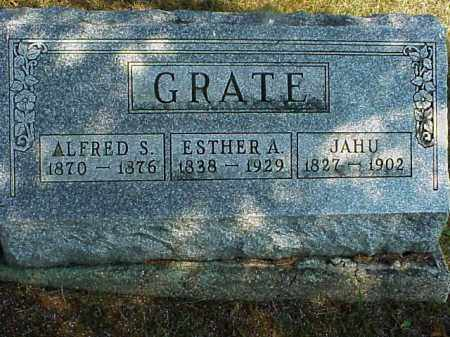GRATE, JAHU - Meigs County, Ohio | JAHU GRATE - Ohio Gravestone Photos