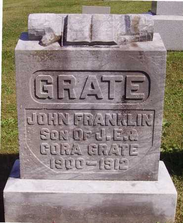 GRATE, JOHN FRANKLIN - Meigs County, Ohio | JOHN FRANKLIN GRATE - Ohio Gravestone Photos
