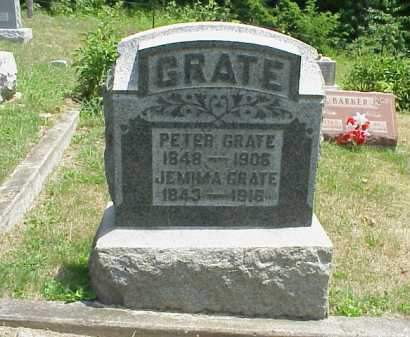 BARTON GRATE, JEMIMA - Meigs County, Ohio | JEMIMA BARTON GRATE - Ohio Gravestone Photos