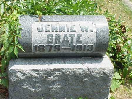GRATE, JENNIE W. - Meigs County, Ohio | JENNIE W. GRATE - Ohio Gravestone Photos
