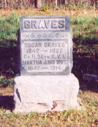 TOPE GRAVES,, MARTHA J. - Meigs County, Ohio | MARTHA J. TOPE GRAVES, - Ohio Gravestone Photos