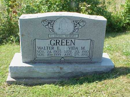 GREEN, WALTER E. - Meigs County, Ohio | WALTER E. GREEN - Ohio Gravestone Photos