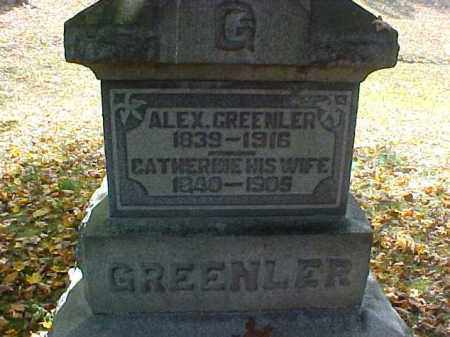GREENLER, CATHERINE - Meigs County, Ohio | CATHERINE GREENLER - Ohio Gravestone Photos