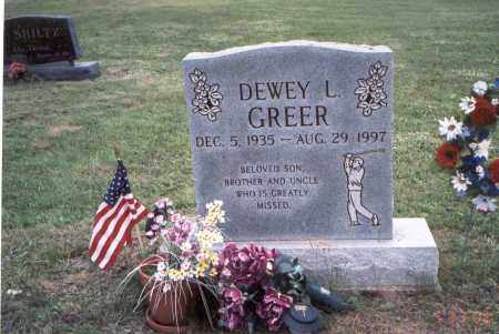 GREER, DEWEY LAWSON - Meigs County, Ohio | DEWEY LAWSON GREER - Ohio Gravestone Photos