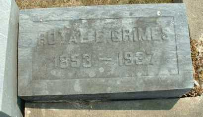 GRIMES, ROYAL E.- CLOSE VIEW - Meigs County, Ohio | ROYAL E.- CLOSE VIEW GRIMES - Ohio Gravestone Photos