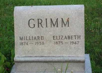 GRIMM, ELIZABETH - Meigs County, Ohio | ELIZABETH GRIMM - Ohio Gravestone Photos