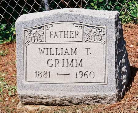 GRIMM, WILLIAM T. - Meigs County, Ohio | WILLIAM T. GRIMM - Ohio Gravestone Photos