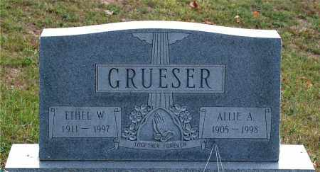 GRUESER, ALLIE A. - Meigs County, Ohio | ALLIE A. GRUESER - Ohio Gravestone Photos