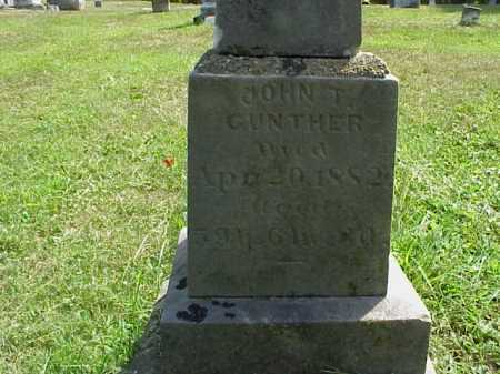 GUNTHER, JOHN T. - Meigs County, Ohio | JOHN T. GUNTHER - Ohio Gravestone Photos