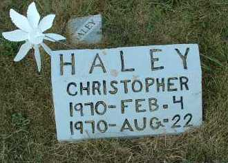 HALEY, CHRISTOPHER - Meigs County, Ohio | CHRISTOPHER HALEY - Ohio Gravestone Photos