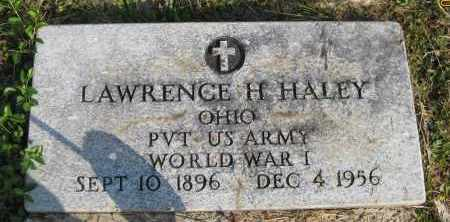 HALEY, LAWRENCE H. - Meigs County, Ohio   LAWRENCE H. HALEY - Ohio Gravestone Photos