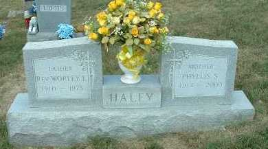 HALEY, WORLEY E. - Meigs County, Ohio | WORLEY E. HALEY - Ohio Gravestone Photos