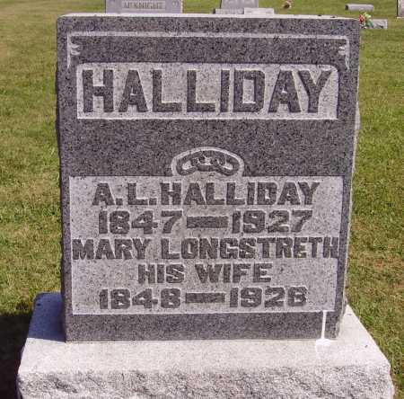 HALLIDAY, ALEXANDER LAING - Meigs County, Ohio | ALEXANDER LAING HALLIDAY - Ohio Gravestone Photos