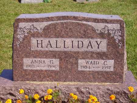 HALLIDAY, ANNA G. - Meigs County, Ohio | ANNA G. HALLIDAY - Ohio Gravestone Photos