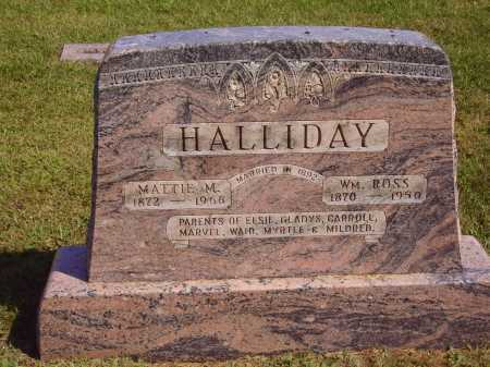 HALLIDAY, MATTIE MARTHA - MAIN MONUMENT - Meigs County, Ohio | MATTIE MARTHA - MAIN MONUMENT HALLIDAY - Ohio Gravestone Photos