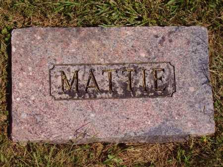 HALLIDAY, MATTIE MARTHA - FOOTSTONE - Meigs County, Ohio | MATTIE MARTHA - FOOTSTONE HALLIDAY - Ohio Gravestone Photos