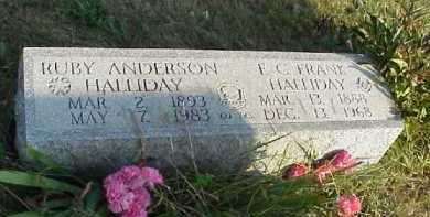 ANDERSON HALLIDAY, RUBY - Meigs County, Ohio | RUBY ANDERSON HALLIDAY - Ohio Gravestone Photos
